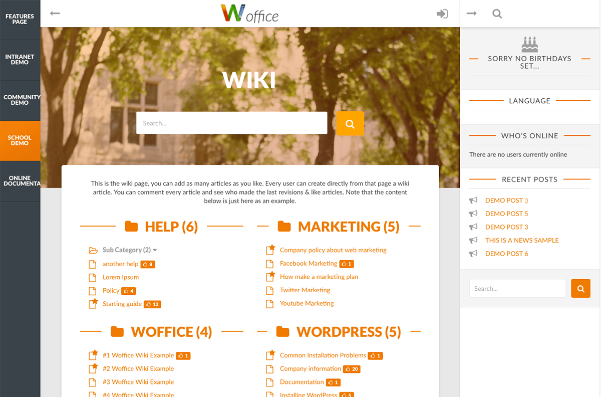 Wordpress Theme Office